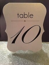 Wedding Table Numbers Cards with Bling Crystal
