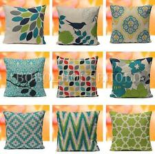 Geometry Nature Green Cotton Linen Home Decor Throw Pillow Case Cushion Cover