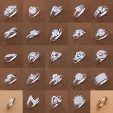 Wholesale Women's Jewelry S925 Sterling Silver SP Ring US size 7 8 Wedding