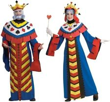 Couples Playing Card King and Queen Adult Costume Ace Spade Heart Club Cosplay