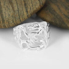 Plain Solid .925 Sterling Silver Dragon Ring Size 6, 7, 7.75, 8.75 (sr195)