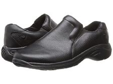 NURSE MATES SLIP ON DOVE BLACK LEATHER COMFORT SHOE LIGHT WEIGHT 229911 WIDE W
