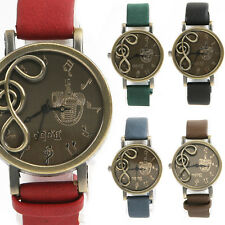 Womens Musical Note Dial Quartz Movement WristWatch Watches