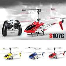 Syma S107G 3.5 Channel 3CH Mini Metal Remote Control RC Helicopter Gyro Genuine