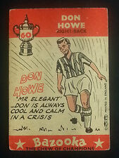 FOOTBALL : A&BC Gum 1962 trade cards FOOTBALLERS BAZOOKA soccer SELECTION