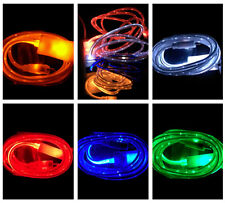 Luminous led light data sync charger charge power cable for iphone5 6 micro usb#