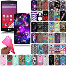 For LG Tribute LS660 F60 MS359 VS810PP Flexible TPU Silicone Rubber Case Cover