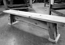 Wooden Bench OAK RUSTIC SOLID WOOD CHUNKY GARDEN FURNITURE UK HANDMADE