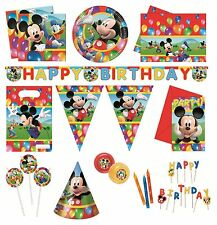 MICKEY MOUSE PARTY TIME Birthday PARTY RANGE (Partyware/Decoration)