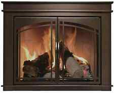 Fireplace Glass Doors Pleasant Hearth Fenwick Bronze w/ Smoke Tempered Glass