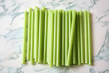 "7"" Green Gerbera Stem Sleeves Straws for Arts Crafts Floral Design FREE SHIPPING"