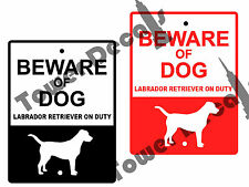 Beware of Dog - Labrador Retriever 9 x 12 Aluminum Window or Fence Security Sign