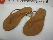 Flojos Delia Women Flip Flop Thong Cognac (Light Brown,Tan) Sandal Arch Support.