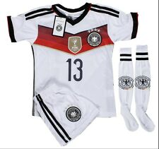 GERMANY #13 MULLER KIDS SOCCER JERSEY & SHORTS SET ALL YOUTH SIZE - US SELLER