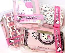 For iPhone 5C - PINK SANRIO HELLO KITTY LEATHER WALLET FLIP POUCH CASE COVER