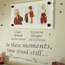 Personalised In These Moments,Time Stood Wall Quotes Stickers Wall Decals