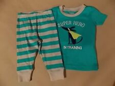 NWT Boy's Gymboree Super Hero shirt & pants pajamas gymmies ~ 6 12 18 months 2T