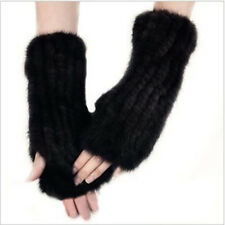 Real Farm Knitted Mink Fur Fancy Winter Mittens Gloves Gift  Markdown Lovely