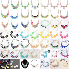 Fashion Womens Flower Choker Bib  Collar Chain Statement Necklace Pendant