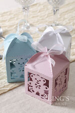 Bear Pattern Laser Cut Wedding Party Favor Boxes Gift Candy Baby Shower Box