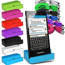 DESKTOP CHARGING STAND STATION DOCK  CHARGER CRADLE FOR BLACKBERRY MODELS