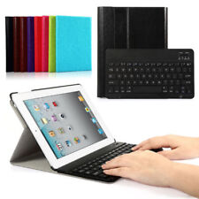 Leather Case Cover + Wireless Bluetooth Keyboard For iPad 4 3 2 Mini iPad Air