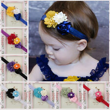 Newborn Baby Kids Girls Lace Pearl Flower Headband Hair Band Headdress