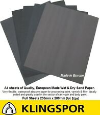 WET AND DRY SANDPAPER 320-2500 GRIT. TOP Quality KLINGSPOR Made in Germany.