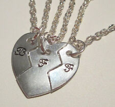 3 Piece BFF Set / Mother Daughters / Couples / Best Friends Name Stamped Jewelry