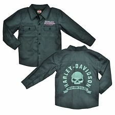 Harley-Davidson Little Boy Motorcycle Shop Shirt - Button-Up - Kids Clothing