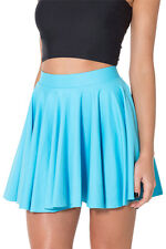2014 New Fashion Saias Femininas Summer Women Skirt Matte Light Blue Cheerleader