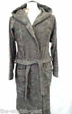Mens new luxury 100% cotton hooded bathrobe grey S M L XL No4 Defected