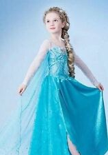 FROZEN DRESS ELSA PRINCESS DRESS  COSTUME KIDS GIRL PARTY FANCY SNOW QUEEN