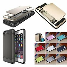 """New Dual Layer Protect Case Cover Card Slot Wallet for iPhone6 4.7""""/5.5"""" 10Color"""