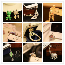 Diamond Crystal Earphone Jack Anti Dust Plug Cap Stopper For CellPhone Nice