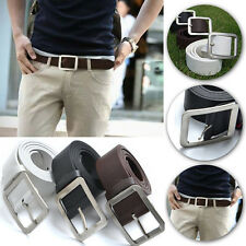 Men's Casual Buckle Belt Faux Leather Waist Strap Belts New Fashion Waistband