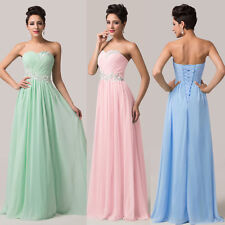 CLEARANCE Long Chiffon Evening Gown Wedding Party Bridesmaid Formal Prom Dresses