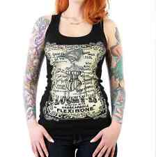 WOMENS LUCKY 13 FLEXIBONE SKELETON PUNK GOTH SEXY TATTOO GIRLS TANK TOP S-XL