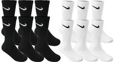 Authentic Nike 3 Pairs Performance Crew Long Cusion Socks Men Women Size 8-12