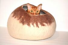 Various colors Felted wool Cat Cave, Kitten and cat Cocoon bed, Handmade, Felt