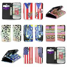 LG Access / F70 Fabric Wallet ID Strap Pouch Case Cover + Screen Protector