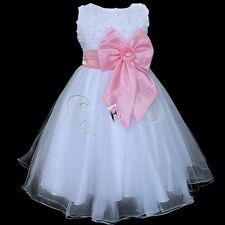 Girls Party Dress Bridesmaid/Prom/Wedding/Christening Formal Flower 2-8 Years