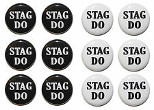 STAG DO Badges / Stag Party Badges / Stag Night Badges - CHOOSE SIZE & COLOUR