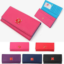 Brand New Women's Ladies Saffiano Synthetic Leather Long Wallet Purse #MP1040