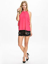 Lipsy BNWT Pink Drape Necklace Top rrp £38 Sizes 6 12 14 or 18