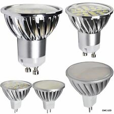LED Spotlight 10pcs GU10 MR16 SMD Light Lamp Bulb 3W 5W 7W DC12V AC100-240V