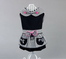 Good new style small girl dog pet clothes apparel bowtie princess summer dress