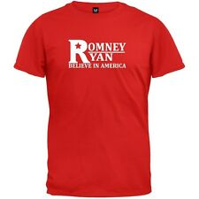 Romney And Ryan - Believe In America Red Adult Mens T-Shirt