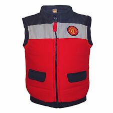 Manchester United Football Club Official Soccer Gift Baby Boys Padded Gilet