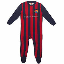 FC BARCELLONA UFFICIALE CALCIO REGALO HOME KIT baby sleepsuit (RRP £ 14.99!)